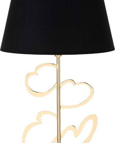 Stolní lampa v černo-zlaté barvě Mauro Ferretti Glam Heart, výška61cm
