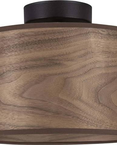 Stropní svítidlo z ořechové dýhy Sotto Luce TSURI S, ø 25 cm