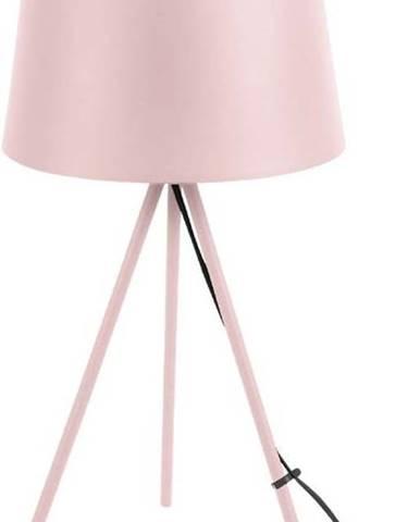 Světle růžová stolní lampa Leitmotiv Classy