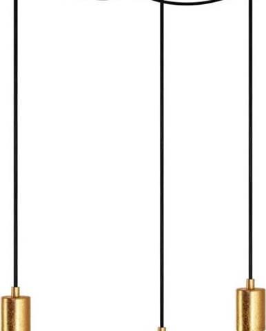 Závěsné tříramenné závěsné svítidlo s detaily ve zlaté barvě Bulb Attack Cero