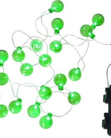 Zelený venkovní světelný LED řetěz s motivem žárovek BestSeason Bulb, 20světýlek