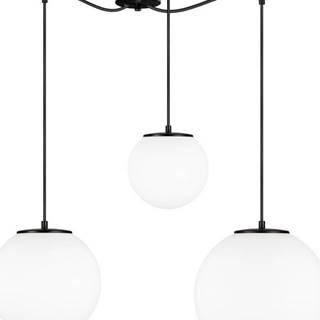 Bílé tříramenné závěsné svítidlo s objímkou v černé barvě Sotto Luce TSUKI