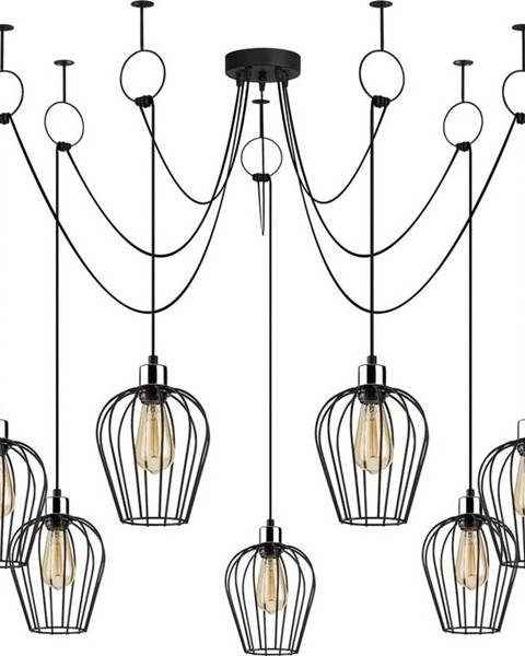 Opviq lights Černé závěsné svítidlo pro 6 žárovek Opviq lights Tel