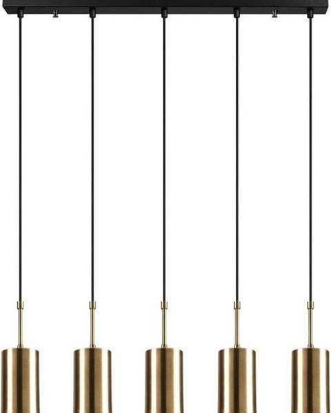 Opviq lights Závěsné svítidlo pro 5 žárovek ve zlaté barvě Opviq lights Kem
