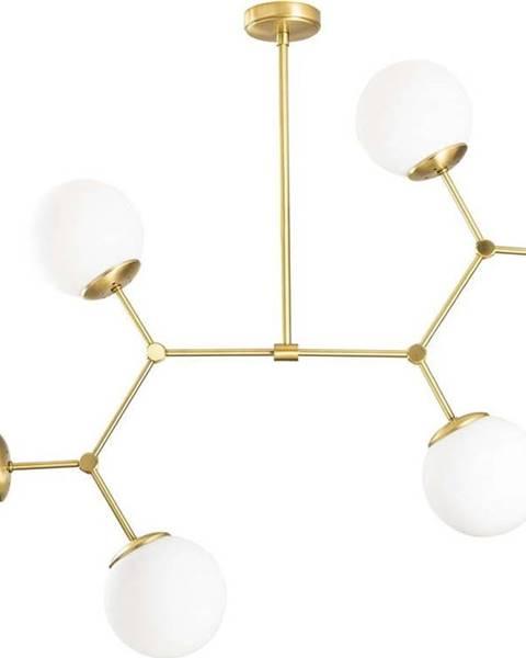 Opviq lights Závěsné svítidlo pro 6 žárovek ve zlato-bílé barvě Opviq lights Damar