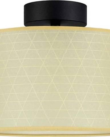 Béžové stropní svítidlo se vzorem trojúhelníků Sotto Luce Taiko,⌀25cm