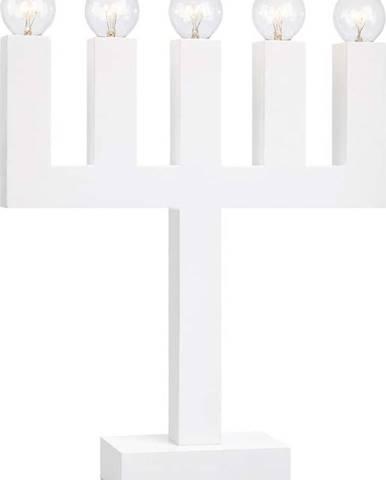 Bílý svícen Markslöjd Agne, výška 40 cm
