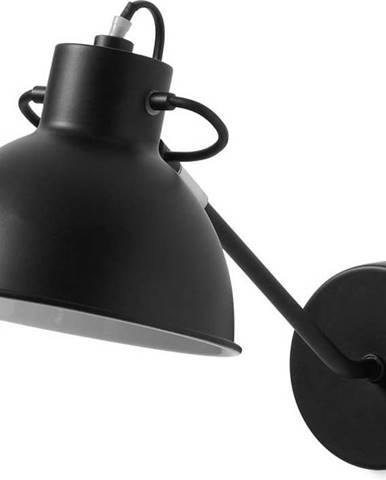 Černá nástěnná lampa La Forma Odalis
