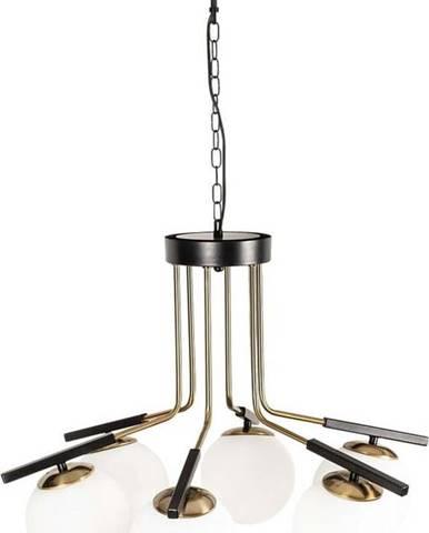 Černé kovové závěsné svítidlo Opviqlights Amalia