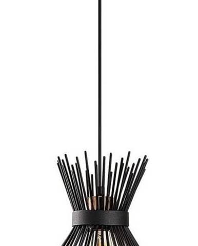 Černé kovové závěsné svítidlo Opviqlights Rosalia