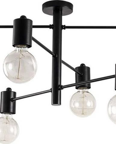 Černé stropní svítidlo pro 6 žárovek Opviq lights Hexa