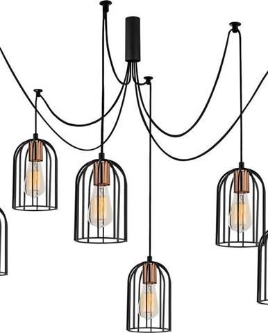 Černé závěsné svítidlo pro 6 žárovek Opviq lights Pamukkale