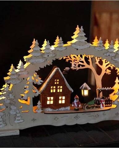 Hnědá LED světelná dekorace Best Season Ulm, výška 27 cm