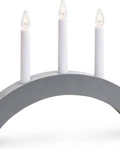 Šedý svícen Markslöjd Alte, délka 40 cm