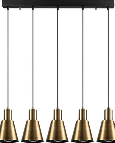 Závěsné svítidlo pro 5 žárovek ve zlaté barvě Opviq lights Kem Tube