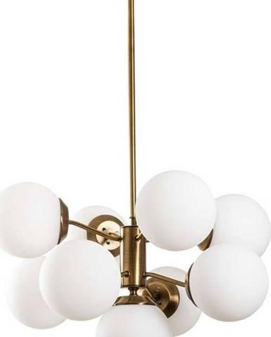 Závěsné svítidlo v bílo-zlaté barvě Opviq lights Mudoni
