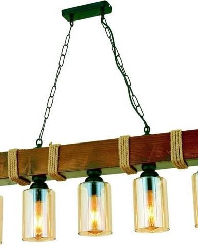 Závěsné svítidlo z habrového dřeva Simona 5li