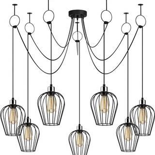 Černé závěsné svítidlo pro 6 žárovek Opviq lights Tel
