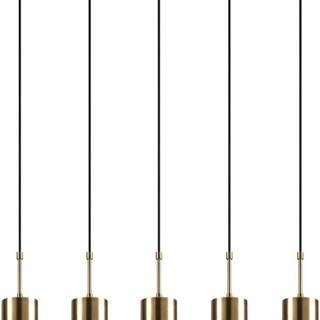 Závěsné svítidlo pro 5 žárovek ve zlaté barvě Opviq lights Kem
