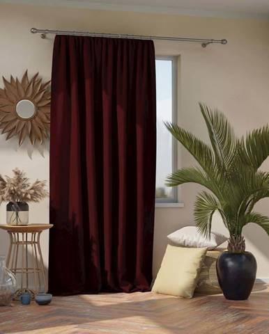 Burgundsky červený závěs AmeliaHome Pleat, 140 x 270 cm
