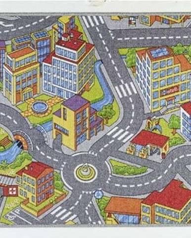 Dětský koberec se šedými detaily Hanse Home City, 140x200cm