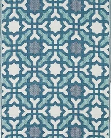 Modro-šedý oboustranný venkovní koberec z recyklovaného plastu Fab Hab Seville, 90 x 150 cm