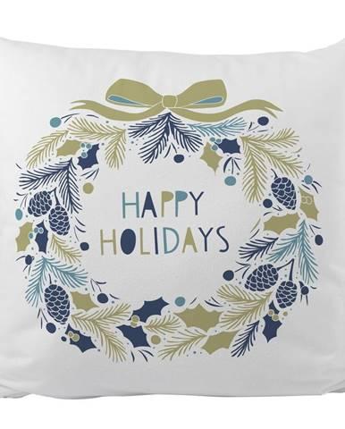 Polštář s vánočním motivem Butter Kings Holiday Wreath,45x45cm