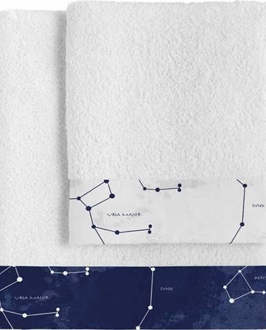 Sada 2 bavlněných ručníků Blanc Cosmos