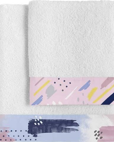 Sada 2 bavlněných ručníků Blanc Tempera