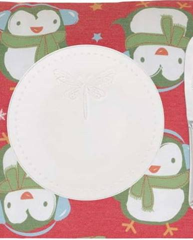 Sada 2 vánočních prostírání Mike&Co.NEWYORK Shine Penguin, 33 x 45 cm