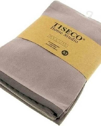 Sada 3 šedohnědých bavlněných utěrek Tiseco Home Studio, 50 x 70 cm