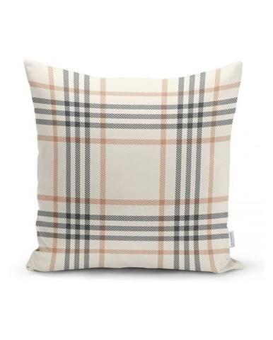 Šedý dekorativní povlak na polštář Minimalist Cushion Covers Flannel,45x45cm