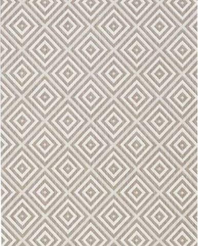 Šedý venkovní koberec Bougari Karo, 80x200cm
