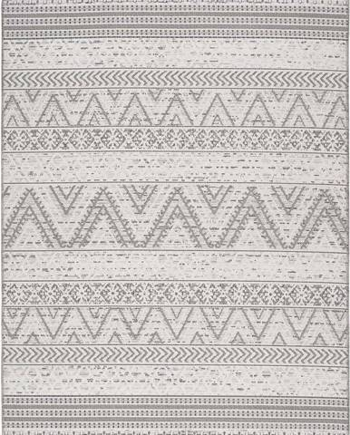 Šedý venkovní koberec Universal Weave Geo, 130 x 190 cm