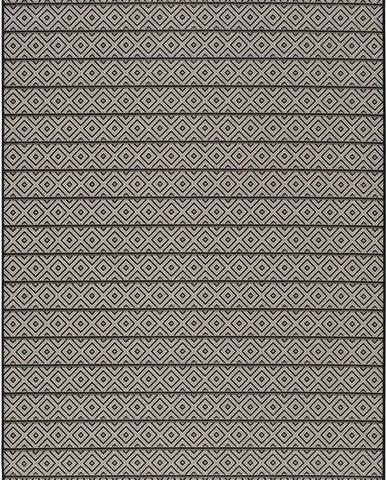 Tmavě šedý venkovní koberec Universal Tokio Stripe, 60 x 110 cm