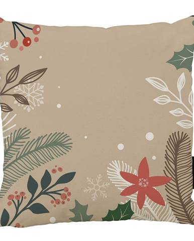 Vánoční polštář s bavlněným povlakem Butter Kings Branches,45x45cm