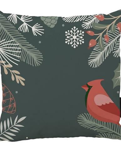 Vánoční polštář s bavlněným povlakem Butter Kings Frosted Branches,45x45cm