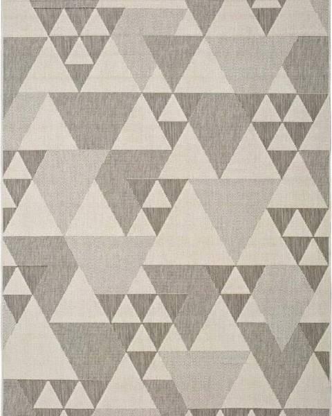 Universal Béžový venkovní koberec Universal Clhoe Triangles, 160 x 230 cm