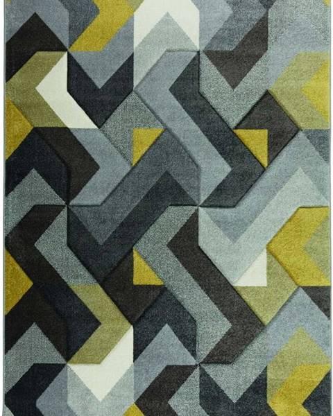 Flair Rugs Zeleno-žlutý koberec Flair Rugs Aurora, 120 x 170 cm