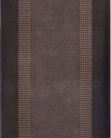 Hnědý běhoun Hanse Home Monica, 80x200 cm