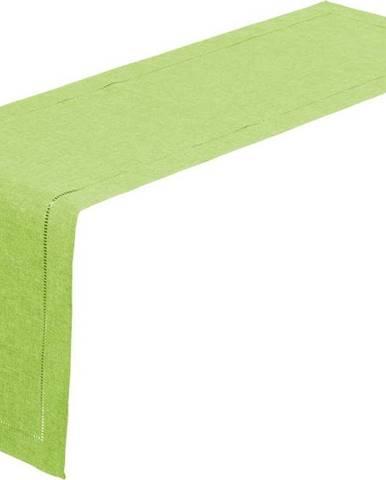 Limetkově zelený běhoun na stůl Unimasa, 150 x 41 cm