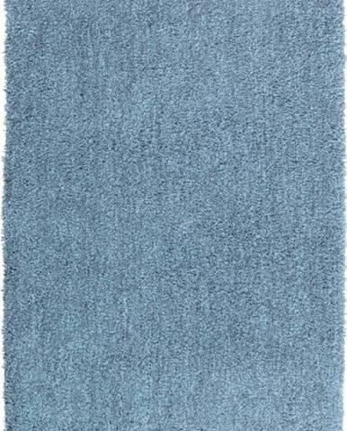 Modrá koupelnová předložka Wenko Mélange, 90x60cm