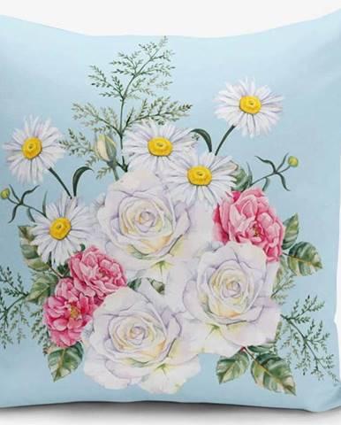 Povlak na polštář s příměsí bavlny Minimalist Cushion Covers Flowerita, 45 x 45 cm