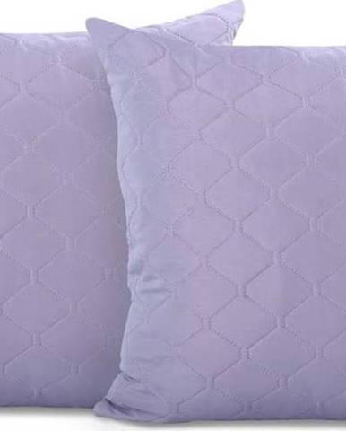 Sada 2 šedofialových povlaků na polštář z mikrovlákna DecoKing Axel, 40x40cm
