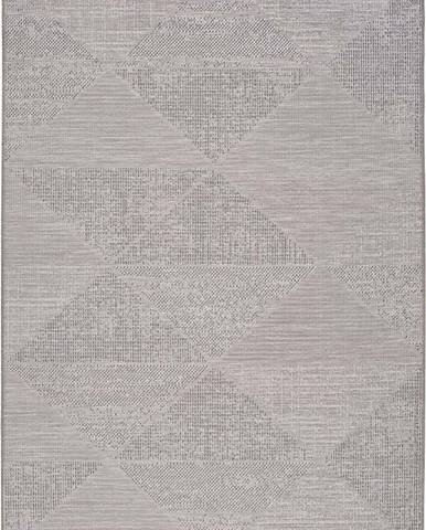 Šedý venkovní koberec Universal Macao Grey Wonder, 155x230cm