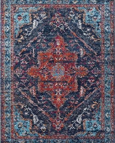 Tmavě modro-červený koberec Nouristan Azrow, 160 x 230 cm