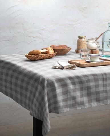 Ubrus Linen Couture Grey Vichy, 140 x 140 cm