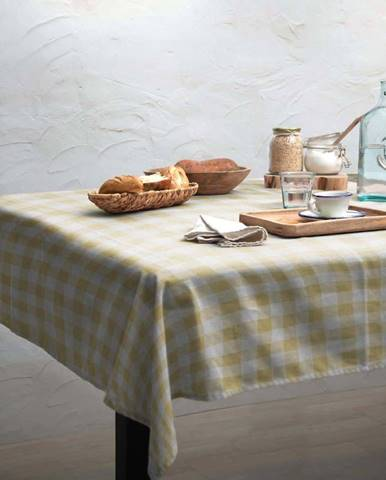 Ubrus Linen Couture Yellow Vichy, 140 x 200 cm