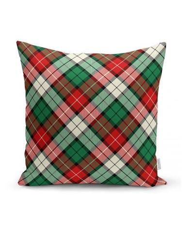 Zeleno-červený dekorativní povlak na polštář Minimalist Cushion Covers Flannel,35x55cm