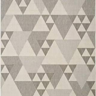 Béžový venkovní koberec Universal Clhoe Triangles, 160 x 230 cm